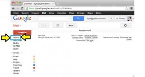 Caixa de entrada do seu e-mail